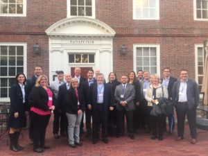 James Craig, featured with a number of the symposium attendees, at Harvard.